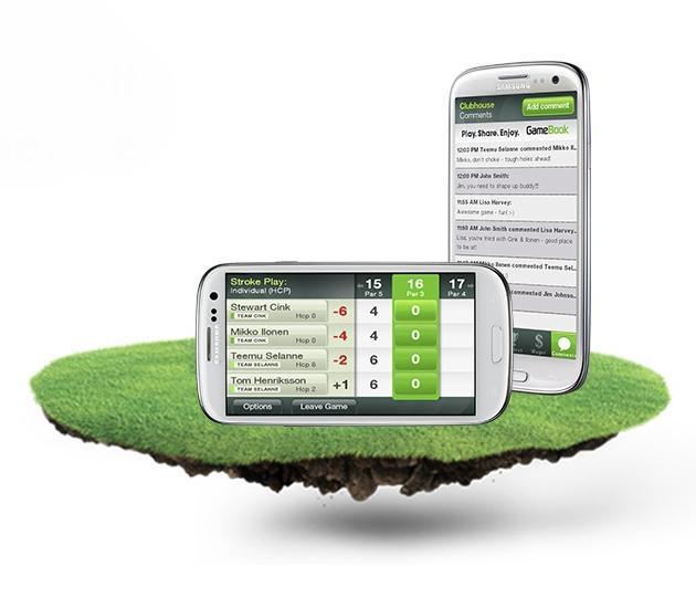 Golf GameBook on Samsung Galaxy SIII phone.