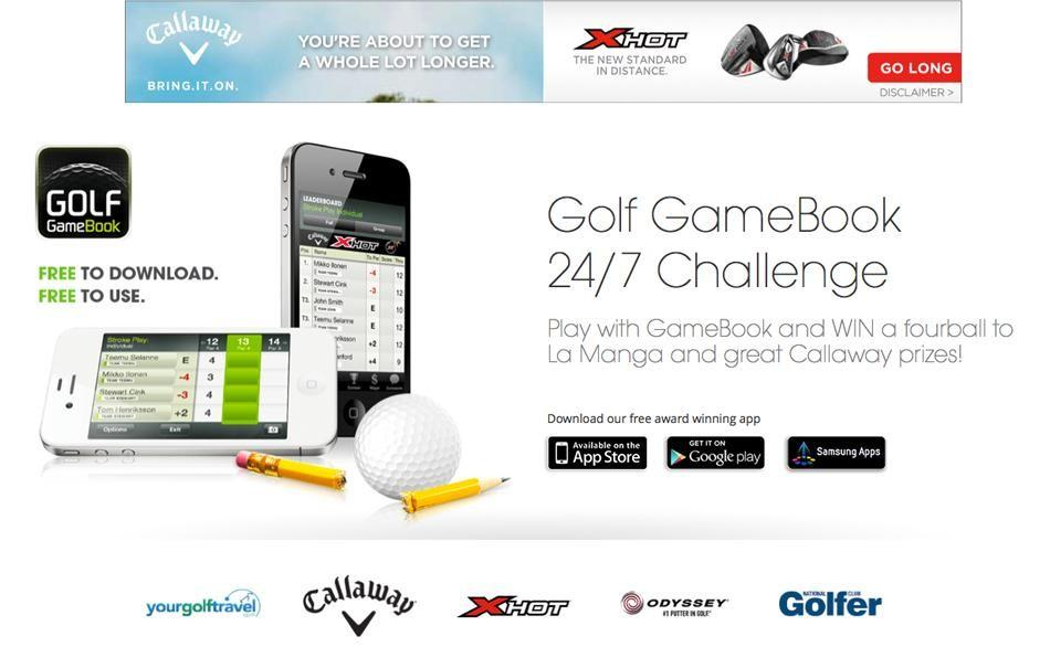 Introducing the free-to-enter Golf GameBook 24/7 Challenge