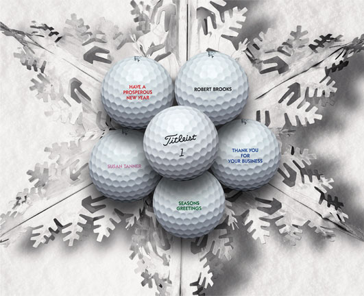You can get personalized golf balls with both text and pictures. (Photo: titleist.com)