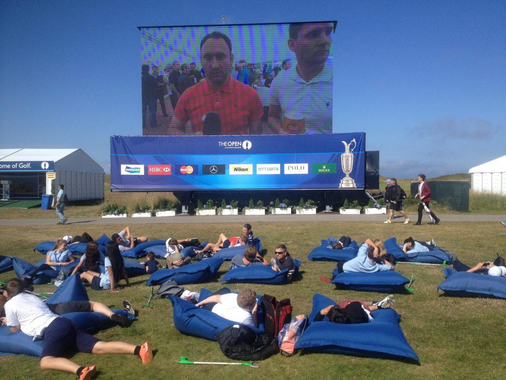 This was one way to follow The Open - at The Open.